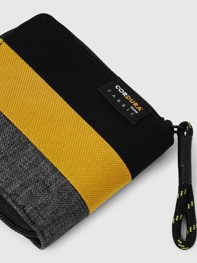 Diesel - ZIPPY HIRESH S, Black/Yellow - Zip-Round Wallets - Image 4