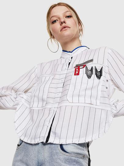 Diesel - C-SUPER-D, White - Shirts - Image 1