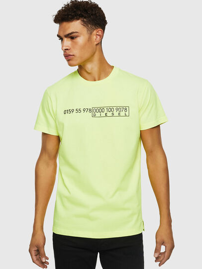Diesel - T-DIEGO-SLITS-J6, Yellow Fluo - T-Shirts - Image 1