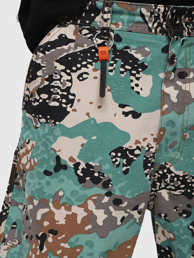 Diesel - P-FRANK-SHO-CAMOU, Green Camouflage - Shorts - Image 3
