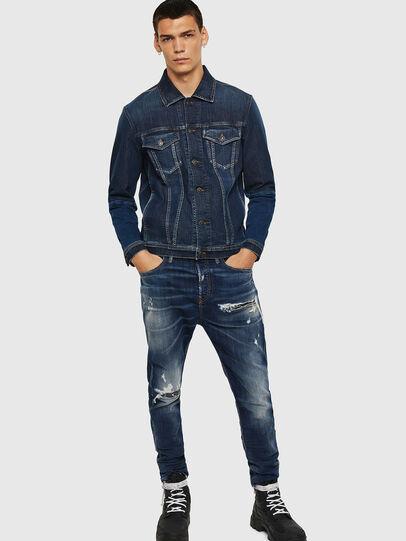 Diesel - D-Vider 0090G, Dark Blue - Jeans - Image 6