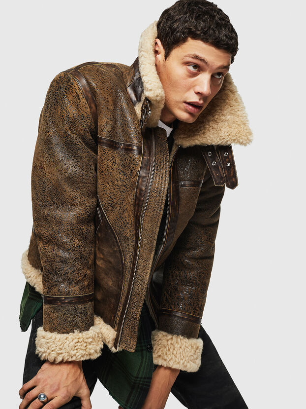 L-BALASOVI, Brown - Leather jackets
