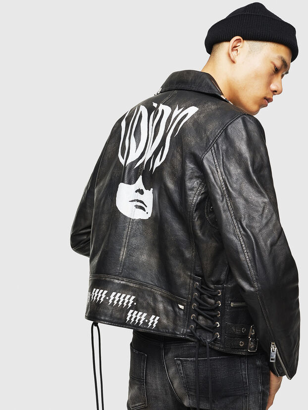 L-GOTIV-A, Black - Leather jackets