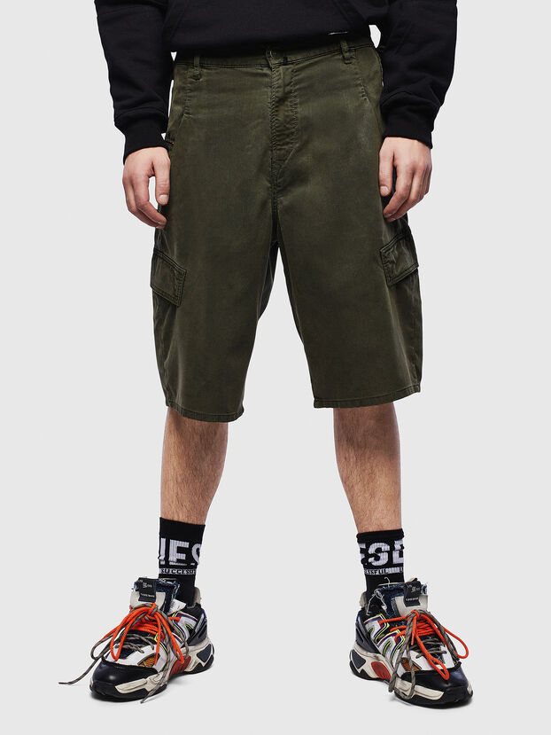 D-KRETT-SHORT JOGGJEANS, Military Green - Shorts
