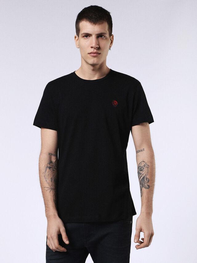 Diesel - DVL-T-SHIRT-ML-RE, Black - T-Shirts - Image 1