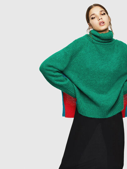 Diesel - M-PERSIA, Green/Red - Knitwear - Image 5