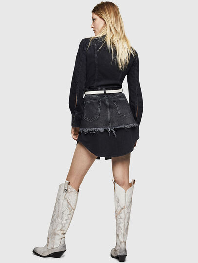 Diesel - DE-DARI, Black/Dark grey - Dresses - Image 2
