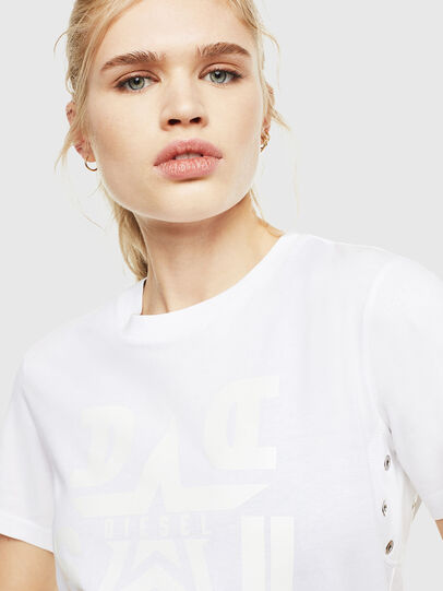 Diesel - T-SILY-WMA, White - T-Shirts - Image 3