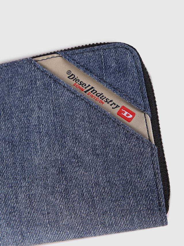 Diesel 24 ZIP, Blue Jeans - Zip-Round Wallets - Image 3