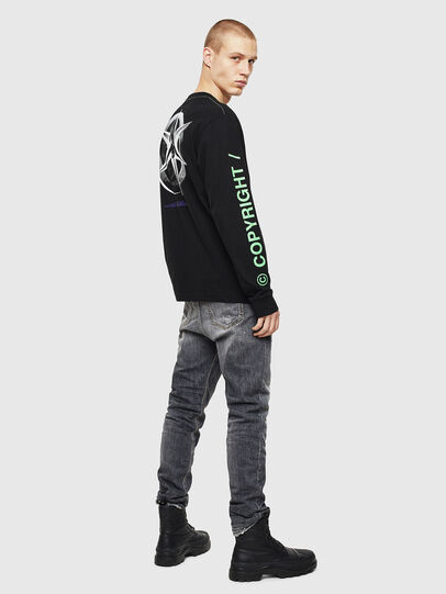 Diesel - T-JUST-LS-VINT, Black/White - T-Shirts - Image 6