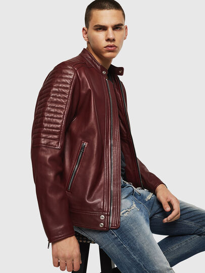 Diesel - L-SHIRO, Bordeaux - Leather jackets - Image 4