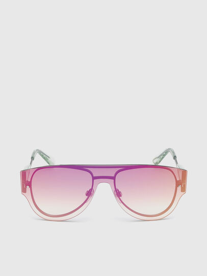 Diesel - DL0273, Pink/White - Sunglasses - Image 1