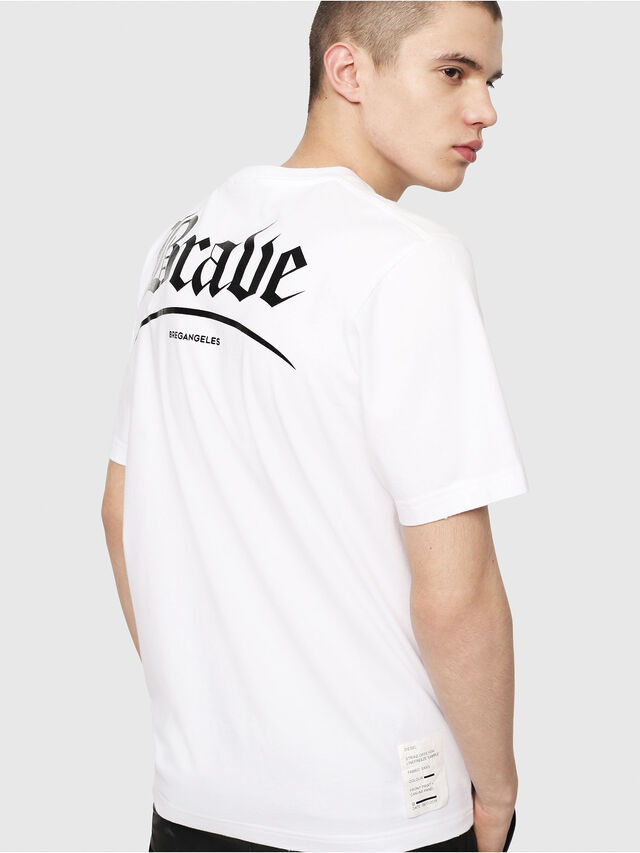 Diesel - T-JUST-Y14, White/Black - T-Shirts - Image 2