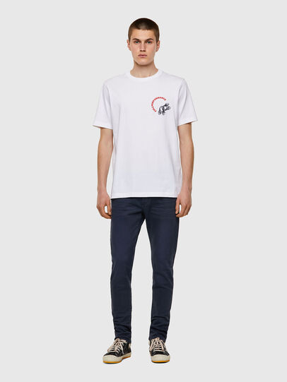 Diesel - T-JUST-B55, White - T-Shirts - Image 4