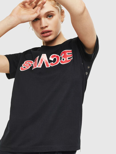 Diesel - T-SILY-WO, Black - T-Shirts - Image 1