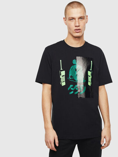 Diesel - T-JUST-T30, Black - T-Shirts - Image 1