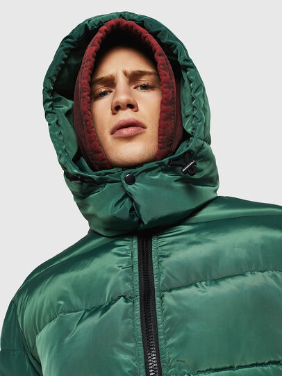 Diesel - W-SMITH-YA-WH, Dark Green - Winter Jackets - Image 3