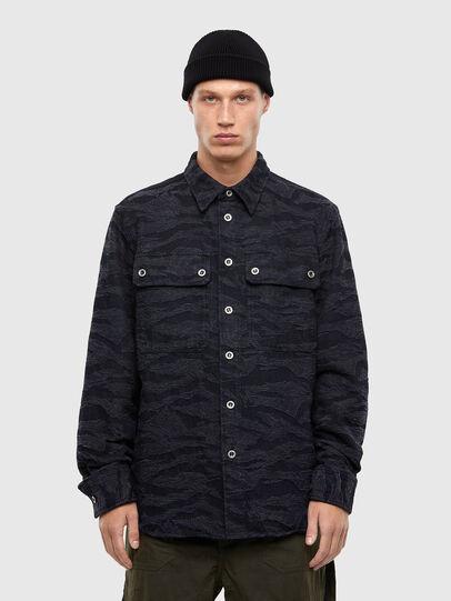 Diesel - D-JESSY-SP, Black/Blue - Denim Shirts - Image 1