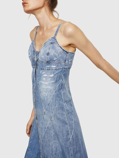 Diesel - DE-ARIN, Light Blue - Dresses - Image 5