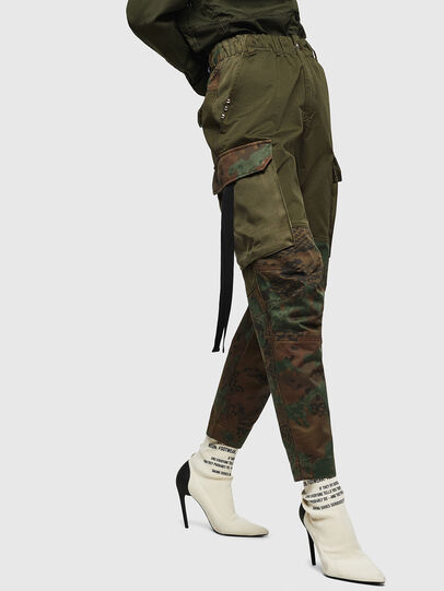 Diesel - P-THENA-A, Green Camouflage - Pants - Image 5