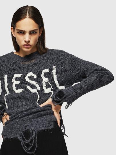 Diesel - M-ANDREA, Grey - Knitwear - Image 4