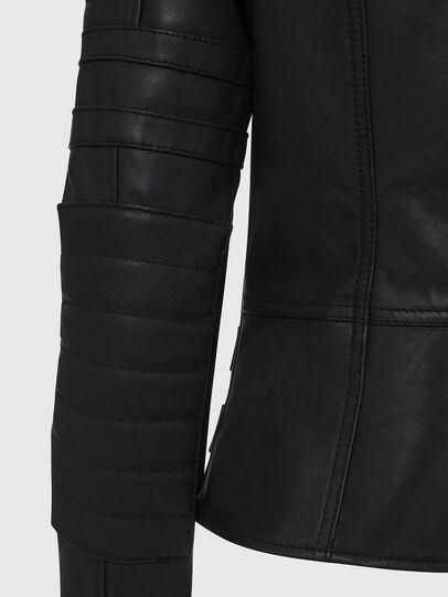 Diesel - L-IGE-NEW, Black - Leather jackets - Image 6