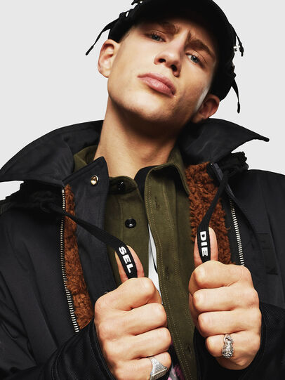 Diesel - W-PELSTIC, Black - Winter Jackets - Image 6