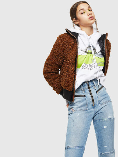 Diesel - L-TOSHA, Brown - Leather jackets - Image 4