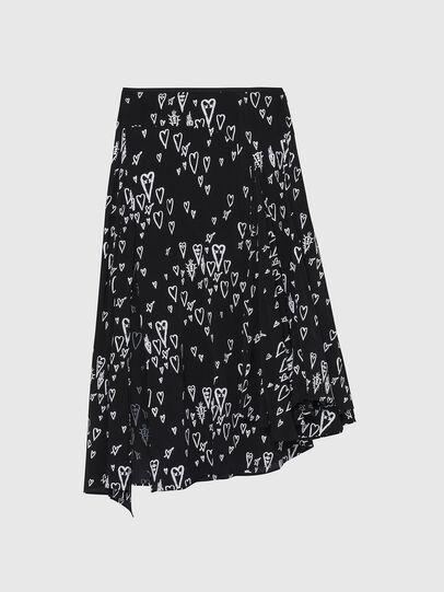 Diesel - O-SPRING-LONG, Black - Skirts - Image 1