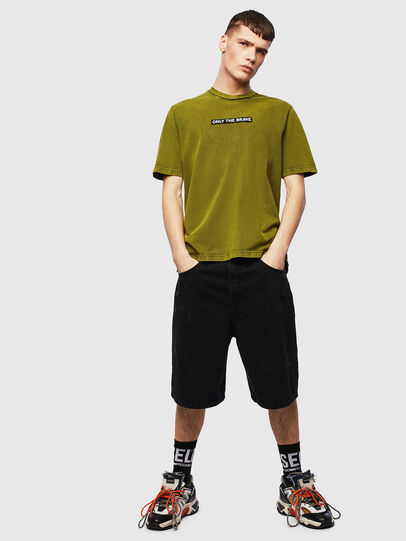 Diesel - T-JUST-SLITS-T15, Yellow - T-Shirts - Image 4
