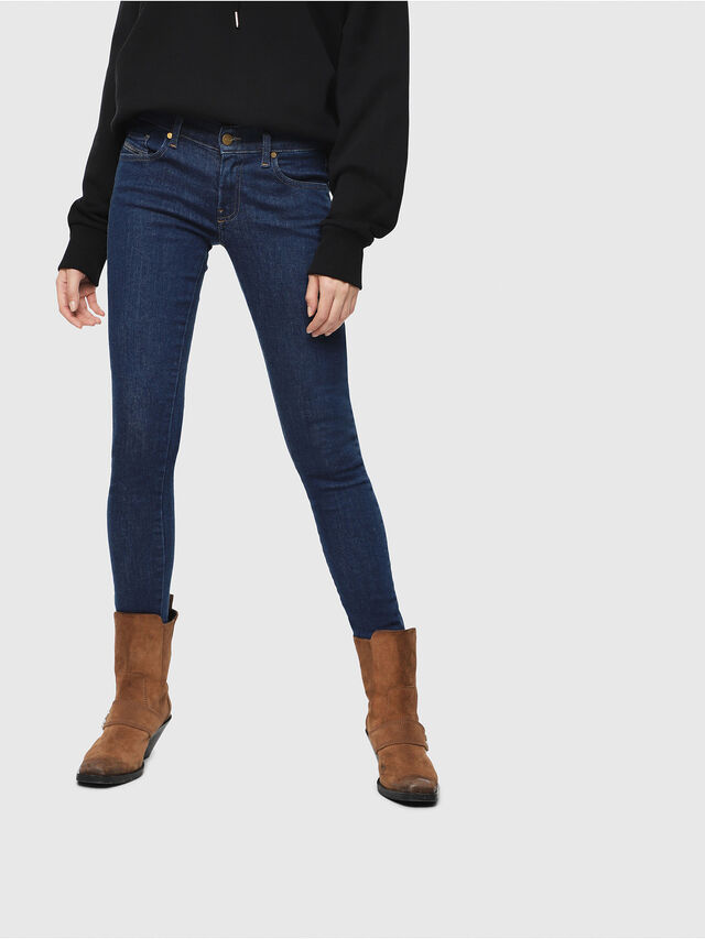 Diesel - Slandy Low 082AA, Dark Blue - Jeans - Image 1