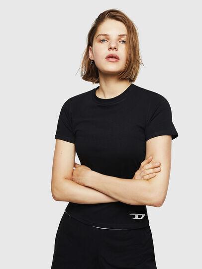 Diesel - UFTEE-ROUNDFEM, Black - T-Shirts - Image 1