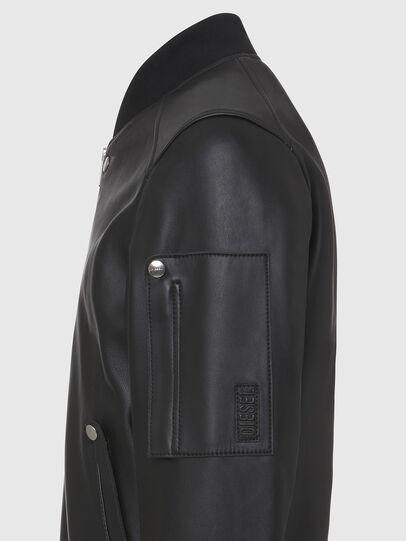 Diesel - L-JOSEPH, Black - Leather jackets - Image 4