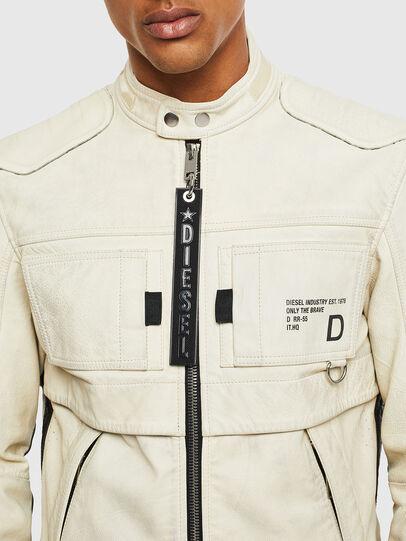 Diesel - L-DIXON, White - Leather jackets - Image 3