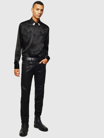 Diesel - S-VEL, Black - Shirts - Image 7