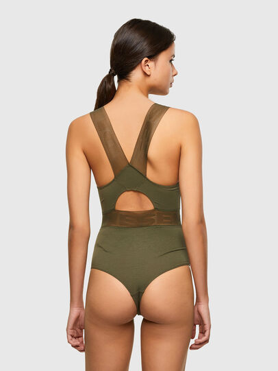 Diesel - UFBY-BODYMESH, Military Green - Bodysuits - Image 2