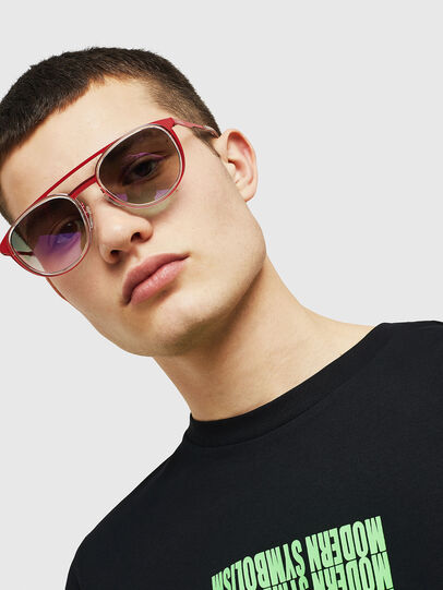 Diesel - DL0293, Red/White - Sunglasses - Image 6