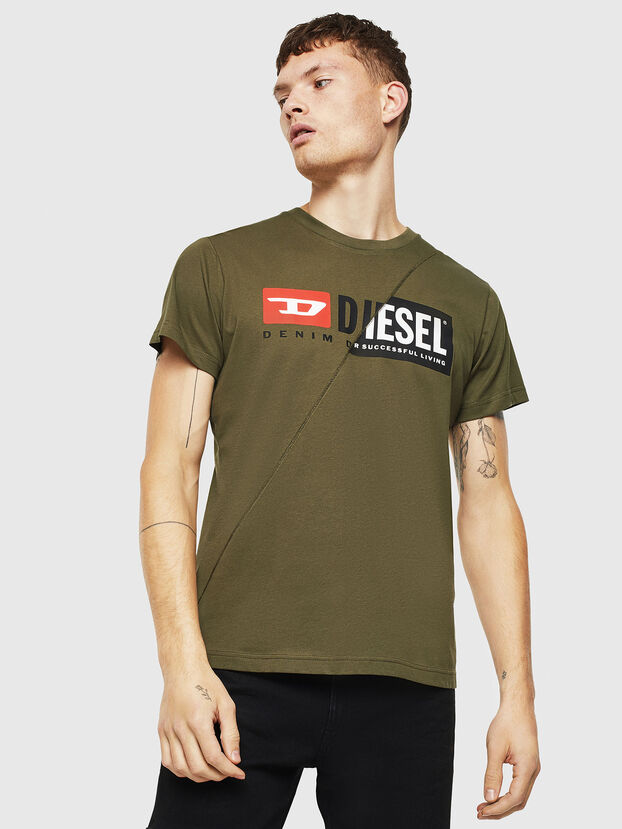 T-DIEGO-CUTY, Military Green - T-Shirts