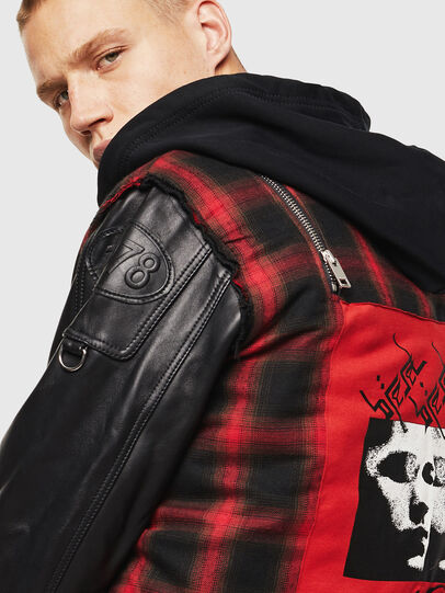 Diesel - L-NORMAN, Black - Leather jackets - Image 3