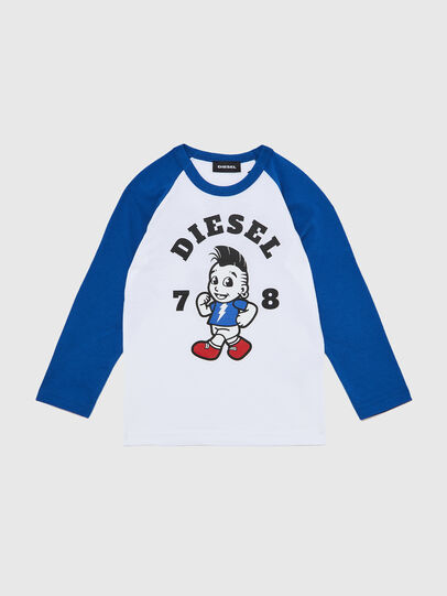 Diesel - TORAB-R, White/Blue - T-shirts and Tops - Image 1