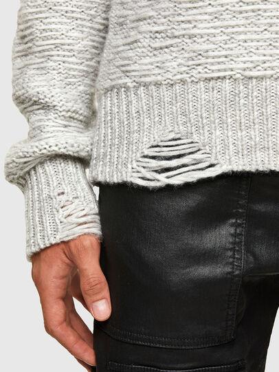 Diesel - K-JOSH, Light Grey - Knitwear - Image 3