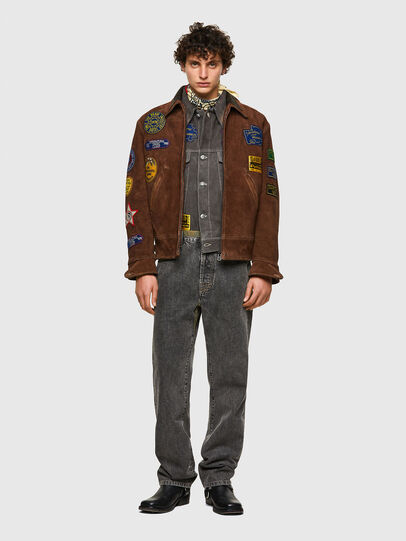 Diesel - DxD-3, Brown - Leather jackets - Image 8