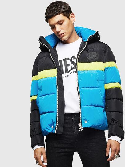Diesel - W-MARTOS, Black/Blue - Winter Jackets - Image 4