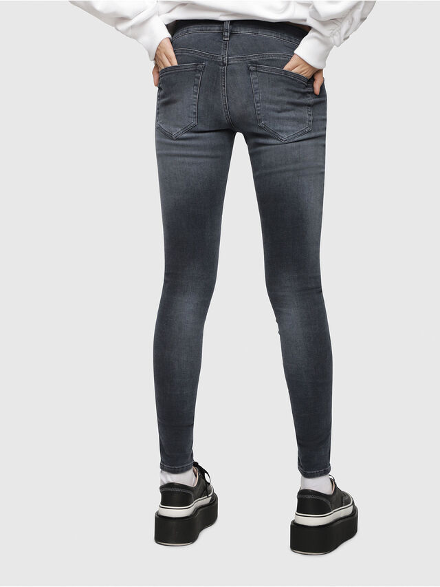 Diesel - Slandy Low 069BT, Dark Blue - Jeans - Image 2