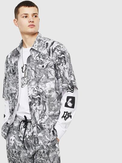 Diesel - S-WED-KAOS, Black/White - Shirts - Image 4