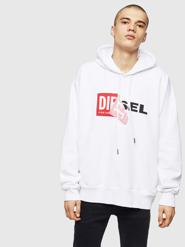 Diesel - S-ALBY, White - Sweaters - Image 1