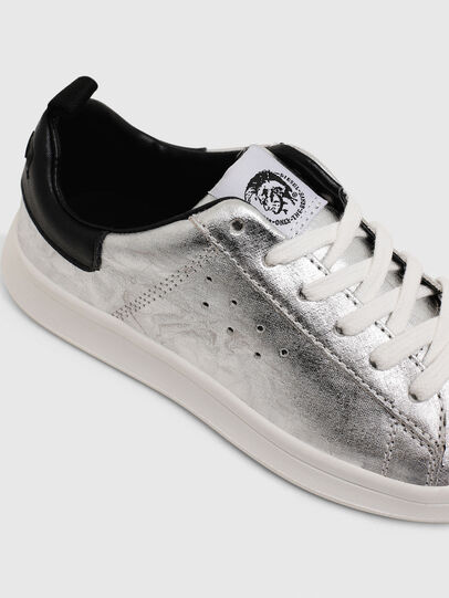 Diesel - SN LOW LACE 11 FULL, Silver/Black - Footwear - Image 4
