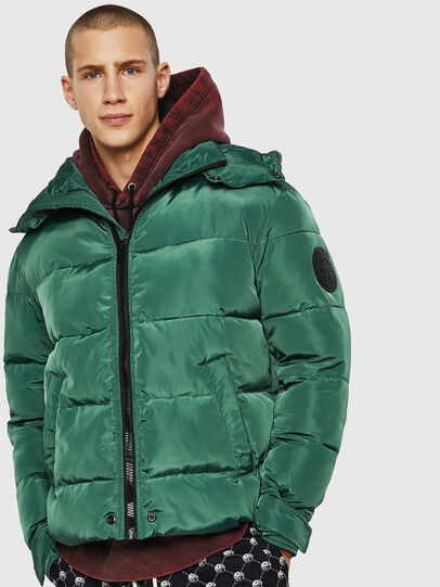Diesel - W-SMITH-YA-WH, Dark Green - Winter Jackets - Image 1