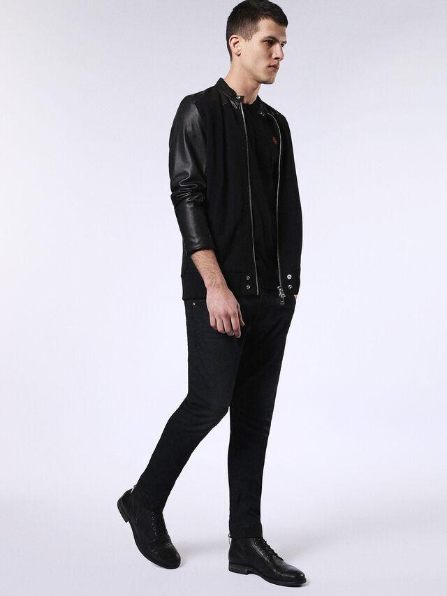 Diesel - DVL-T-SHIRT-ML-RE, Black - T-Shirts - Image 4