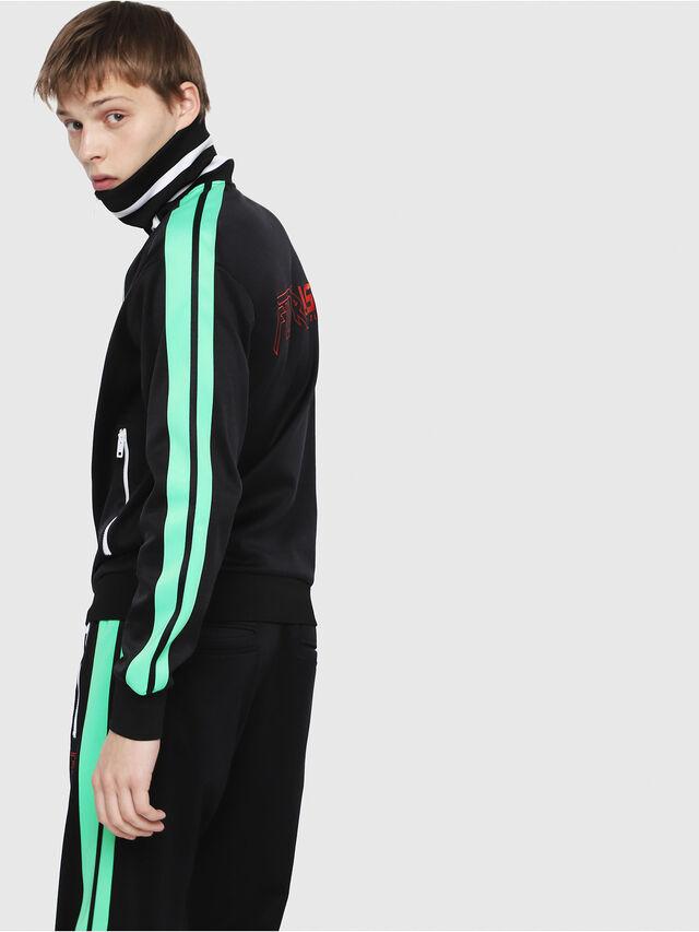 Diesel - S-HISOKA, Black/Green - Sweaters - Image 2